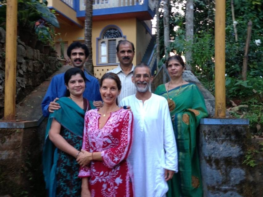 With Dr.Ashwin and family, Hariharapura, 2015