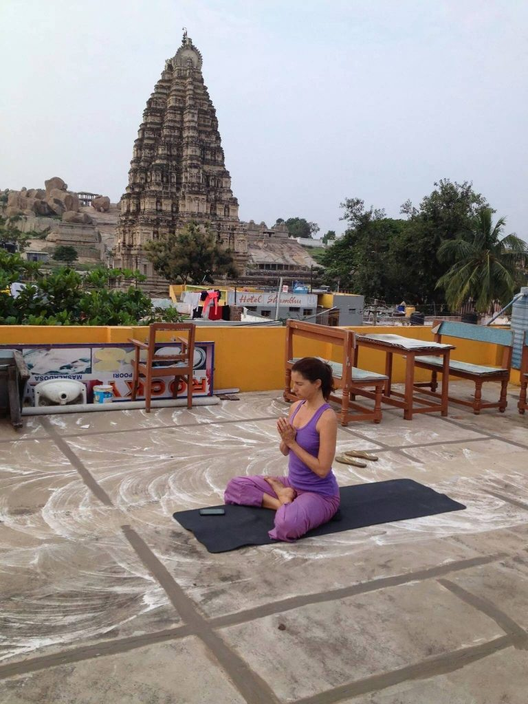 Early Morning Pranayama in Hampi
